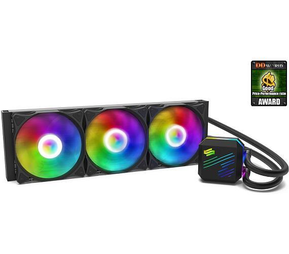 SilentiumPC vodní chladič Navis EVO ARGB 360 AiO / 3x120mm fan / 22dBA / pro AM3