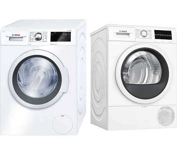 Bosch WAT28660BY + Sušička prádla Bosch WTR85T00BY