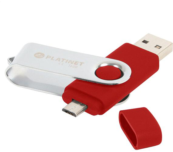 PLATINET ANDROID PENDRIVE USB 2.0 BX-Depo 32GB + microUSB for tablets RED (PMFB32R)