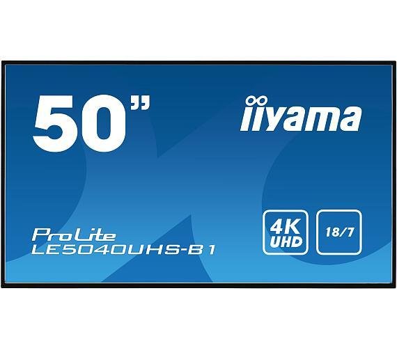 IIYAMA LE5040UHS-B1 - AMVA3,4K UHD,8ms,350cd/m2