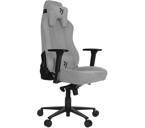 AROZZI herní židle VERNAZZA Soft Fabric Light Grey/ povrch Elastron/ světle šedá (VERNAZZA-SFB-LG)