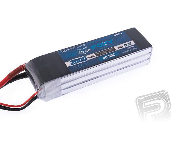 FOXY G3 - Li-Po 2600mAh/11,1V 40/80C 28,9Wh + DOPRAVA ZDARMA