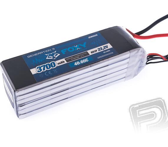 FOXY G3 - Li-Po 3700mAh/22.2V 40/80C 82.14Wh + DOPRAVA ZDARMA