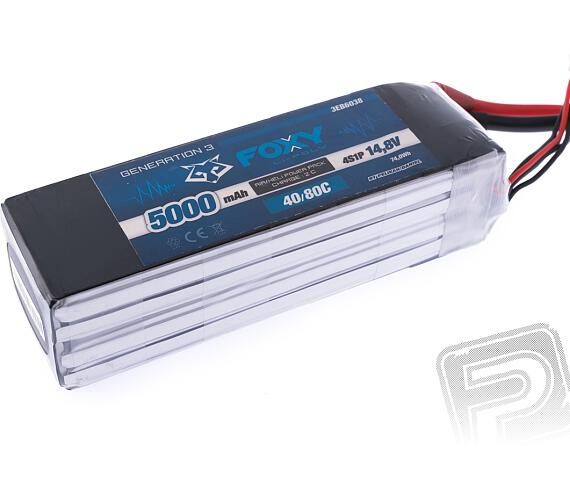 FOXY G3 -Li-Po 5000mAh/14,8V 40/80C 74,0Wh + DOPRAVA ZDARMA