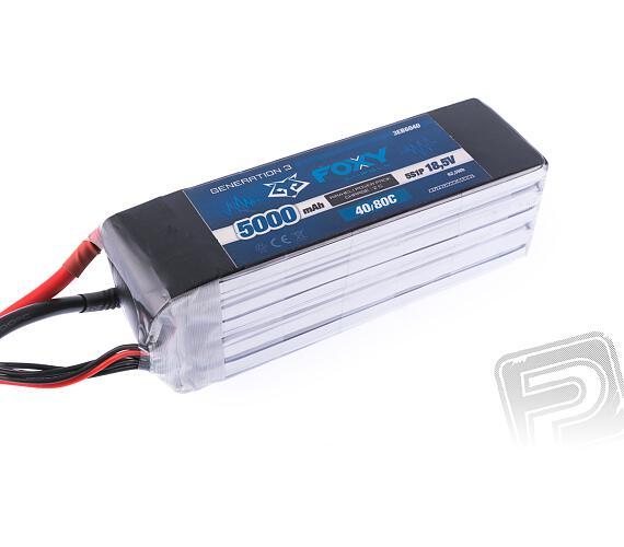 FOXY G3 - Li-Po 5000mAh/18,5V 40/80C 92,5Wh + DOPRAVA ZDARMA