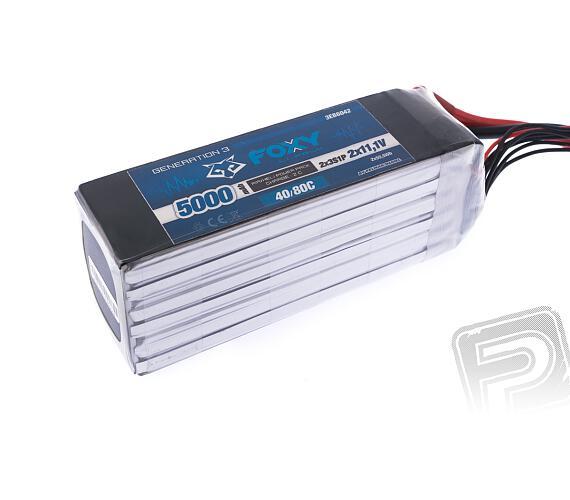 FOXY G3 - Li-Po 5000mAh/22,2V 40/80C + DOPRAVA ZDARMA