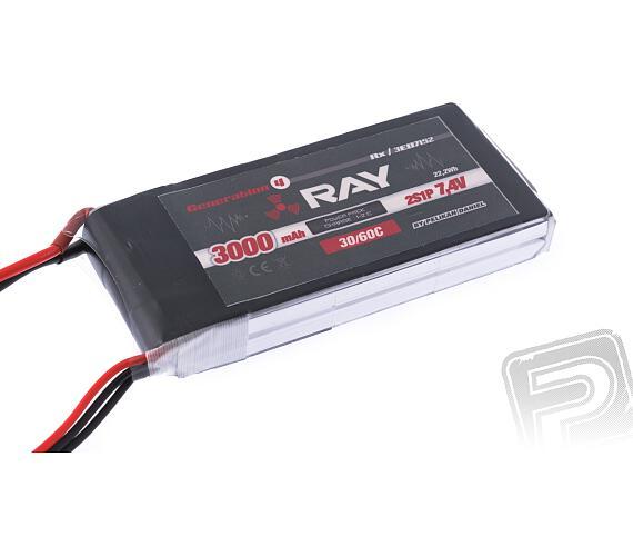RAY Li-Po 3000mAh/7,4 30/60C RX