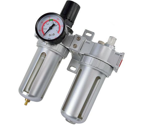 Regulátor tlaku s filtrem a manometrem a přim. oleje