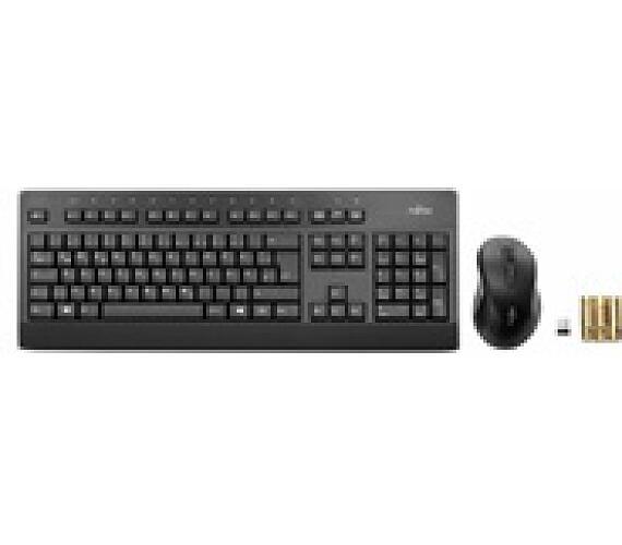FUJITSU Klávesnice a myš bezdrátový set - LX960 CZ/SK - Wireless KB Mouse Set - tichá klávesnice
