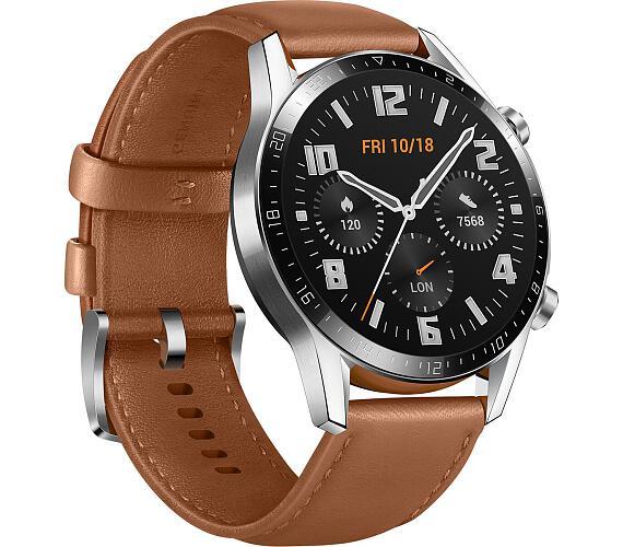 HUAWEI Watch GT 2 Brown Leather Strap (Latona-B19V) + DOPRAVA ZDARMA