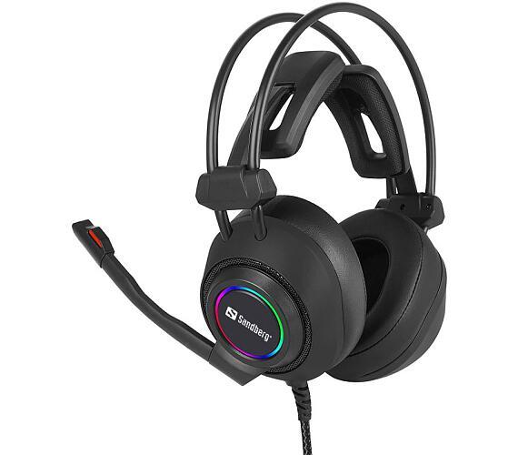 SANDBERG herní sluchátka Savage Headset USB 7.1 s mikrofonem