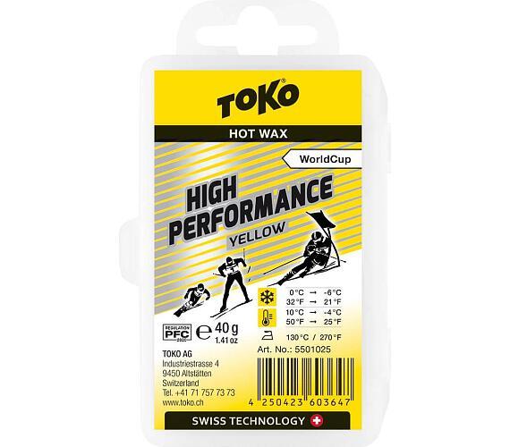 TOKO High Performance Hot Wax yellow 40g