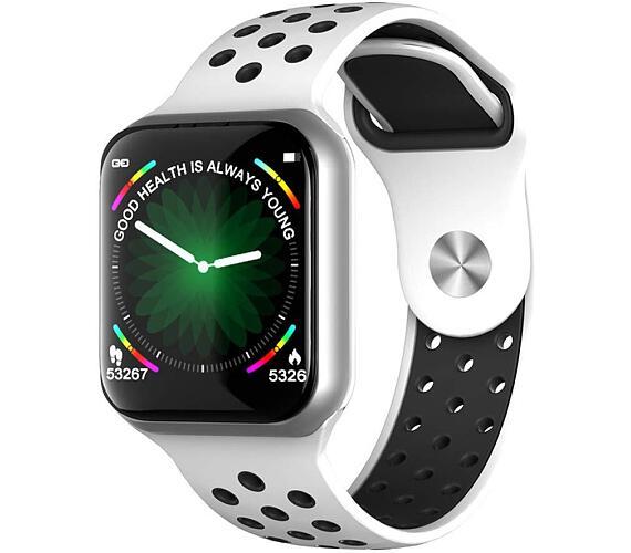 """IMMAX chytré hodinky SW13/ 1.3"""" dotykový TFT LCD/ BT/ IP67/ komp. s Android 2.3 / iOS 4.0 a vyšší/ CZ app/ bílo-stříbrné (09022)"""