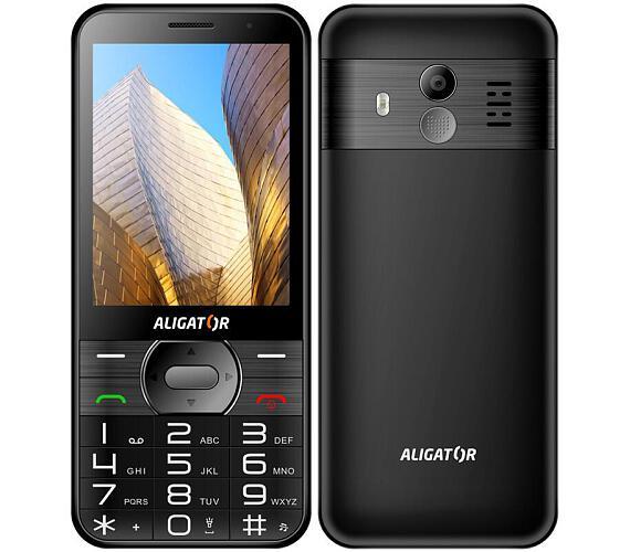 Aligator A900 Senior černý + stolní nabíječka (A900B)