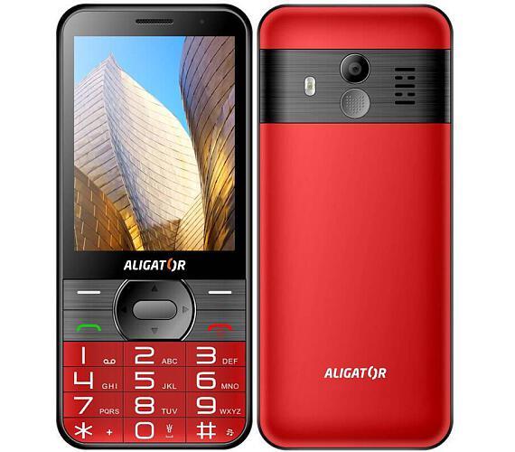 Aligator A900 Senior červený + stolní nabíječka (A900R)