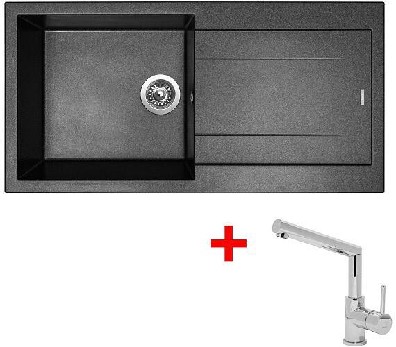 Sinks AMANDA 990 Metalblack+MIX 350P + DOPRAVA ZDARMA