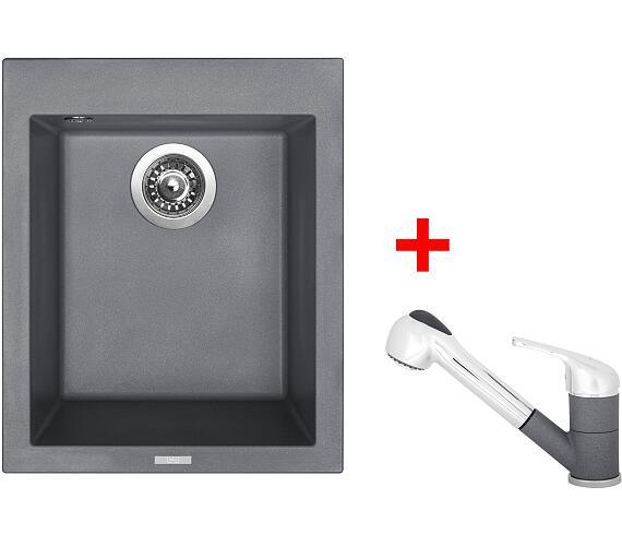 Sinks CUBE 410 Titanium+CAPRI 4S GR + DOPRAVA ZDARMA