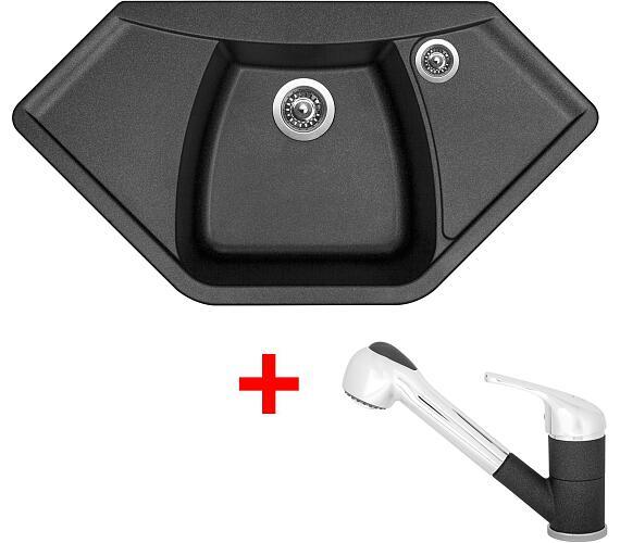 Sinks NAIKY 980 Metalblack+CAPRI 4S GR + DOPRAVA ZDARMA