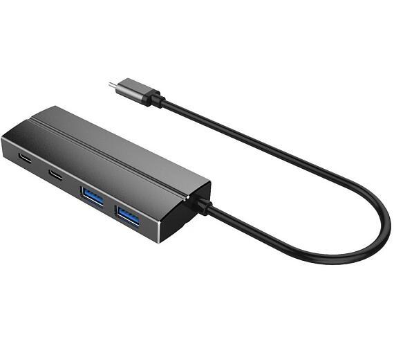 PremiumCord USB Hub 10G SuperSpeed / USB-C / 2x USB-A 3.1 + 2x USB-C 3.1 (ku31hub07) + DOPRAVA ZDARMA