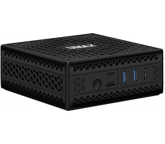 """Umax Mini PC U-Box J50 Pro/ J5005/ 4GB/ 64GB/ 2,5"""" HDD/SSD slot/ 2x HDMI/ 2x USB 3.0/ 2x USB 2.0/ BT/ Wi-Fi/ LAN/ W10Pro (UMM210J55)"""