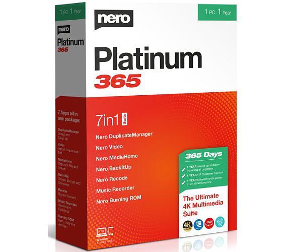Nero Platinum 365 - CZ - roční verze 7 programů v 1 (EMEA-12200020/1316) + DOPRAVA ZDARMA