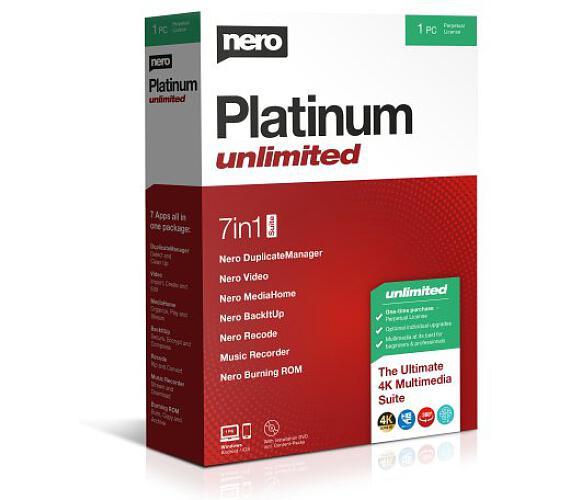 Nero Platinum Unlimited - CZ - trvalá licence - 7 programů v 1 (EMEA-12200010/1316) + DOPRAVA ZDARMA