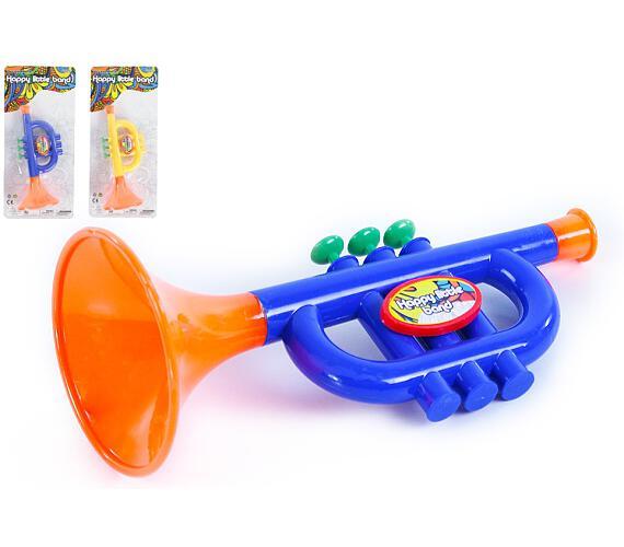 Trumpeta plast malá 24cm asst. 2 barev na kartě