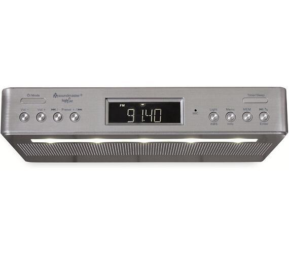 Soundmaster UR2045SI kuchyňské rádio s DAB+ / RDS / BT/ Duální alarm/ časovač / stříbrný