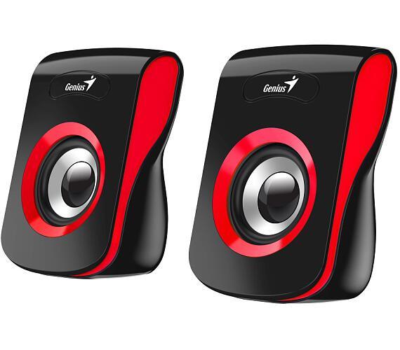 """GENIUS repro SP-Q180 Red/ 2.0/ 6W/ USB napájení/ 3,5"""" jack/ černočervené (31730026401)"""