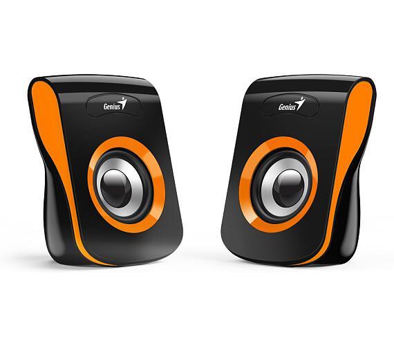 "GENIUS repro SP-Q180 Orange/ 2.0/ 6W/ USB napájení/ 3,5"" jack/ černooranžové (31730026402)"