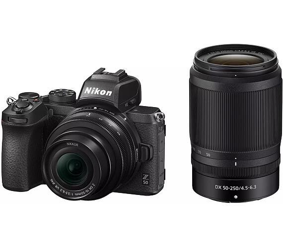 Nikon Z50 + 16-50mm (Z) f/3,5-6,3 DX + 55-250mm (Z) f/4,5-6,3 DX - systémový fotoaparát