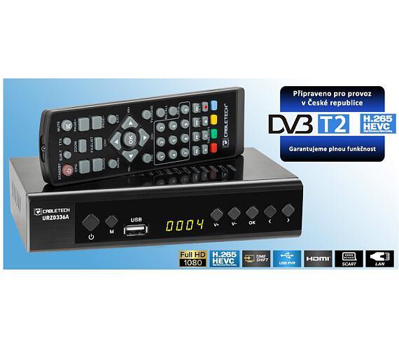 Kruger&Matz Cabletech URZ0336A - Digitální tuner DVB-T2 H.265 HEVC LAN