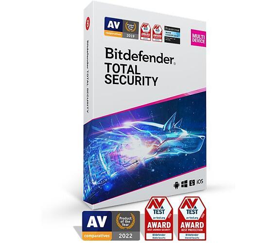 Bitdefender Total Security 5 zařízení na 1 rok (TS01ZZCSN1205LEN)