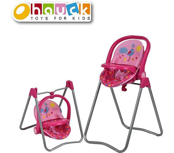 Jídelní židlička pro panenky 3v1
