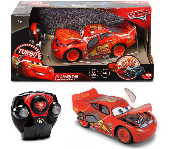 RC Cars 3 Blesk McQueen Crazy Crash 1:24