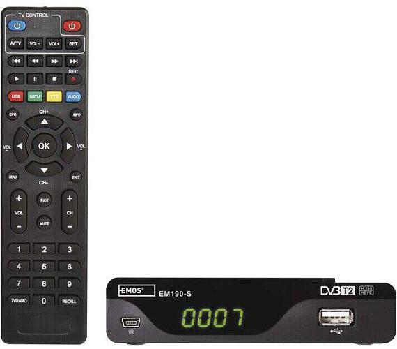 DVB-T2 PŘIJÍMAČ EM 190-S HD (HEVC H265) (2520236400)