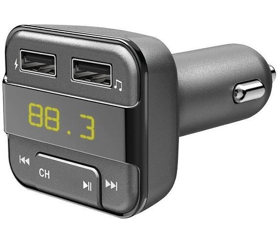 HAMA Bluetooth FM transmitter/ 2x USB/ CL adaptér/ vhodné pro mobil/ šedý (183274)