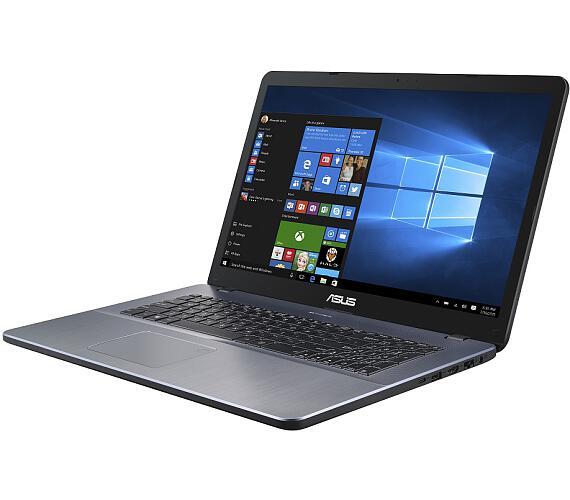 """ASUS M705BA-BX030T AMD A4-9125/4GB/256GB SSD/17,3"""" HD+/Win10/šedý"""