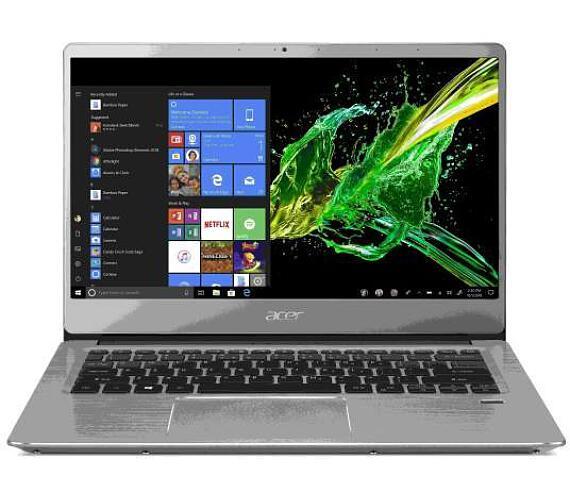 "Acer Swift 3 (SF314-58-33LA) i3-10110U/4GB+4GB/256GB SSD/UHD Graphics/14"" FHD IPS LED matný/W10 Home/Silver (NX.HPMEC.004)"