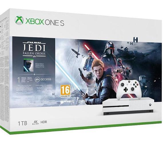 XBOX ONE S 1 TB + Star Wars: Fallen Jedi Order (234-01098)