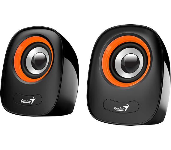 "GENIUS repro SP-Q160 Orange/ 2.0/ 6W/ USB napájení/ 3,5"" jack/ černooranžové (31730027402)"