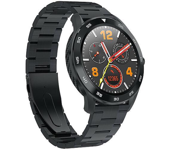 """IMMAX chytré hodinky SW14/ 1.3"""" IPS LCD/ MTK2502C/ BT/ IP68/ Android 4.4 / iOS 8.0 a vyšší/ česká app/ ocel/ černé (09026) + DOPRAVA ZDARMA"""