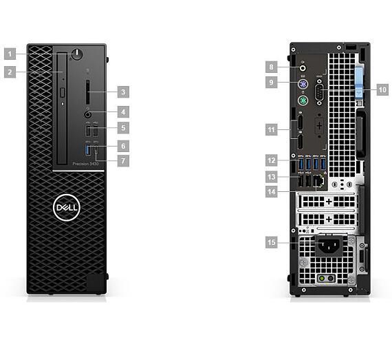 Dell Precision T3431 i7-8700/16GB/256 SSD/2TB+16GB Optane/2GB Quadro P620/DVD-RW/ Win 10 Pro 64bit/3Yr PS NBD (T3630-16PT) + DOPRAVA ZDARMA