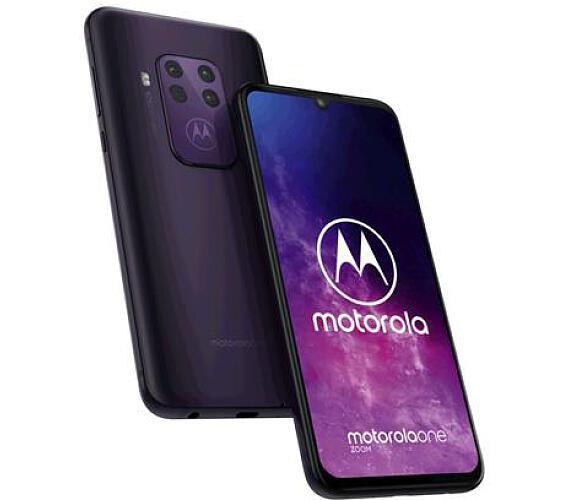 Motorola One Zoom 4+128GB OIS gsm tel. Cosmic Purple + DOPRAVA ZDARMA