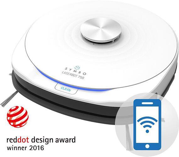 Symbo LASERBOT 750 white WiFi + mop (vítěz Reddot Award) + DOPRAVA ZDARMA