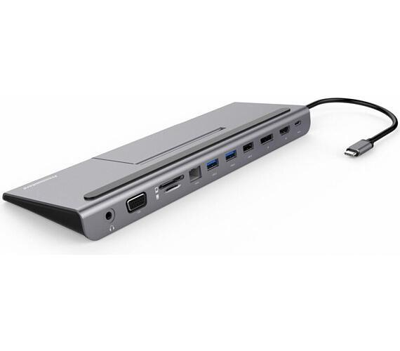 PREMIUMCORD USB-C MST dock se stojanem na telefon (ku31dock13)