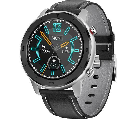 "IMMAX chytré hodinky SW15/ 1.3"" IPS LCD/ HS6620/ BT/ IP68/ Android 4.4 / iOS 8.4 a vyšší/ česká app/ černo-stříbrné (09028)"