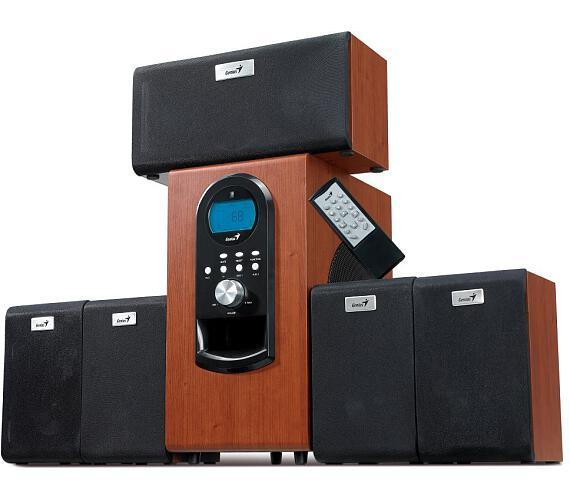 Genius repro SW-HF 5.1 6000 Ver. II/ 5.1/ 200W/ Dřevěné/ Dálkový ovladač (31730018400)