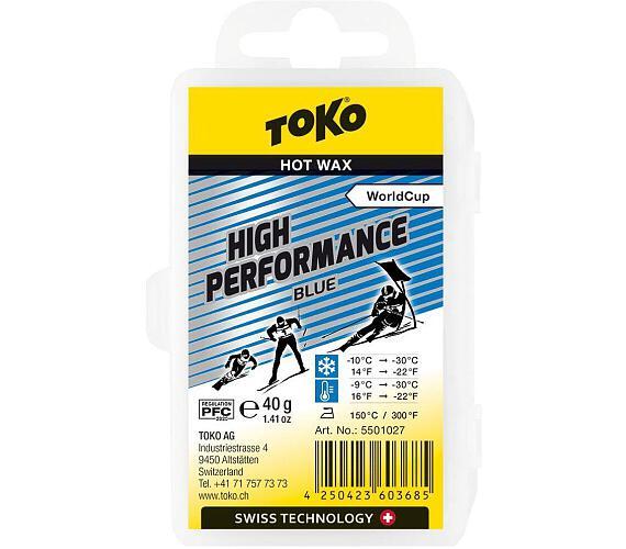 TOKO High Performance Hot Wax blue 40g + DOPRAVA ZDARMA