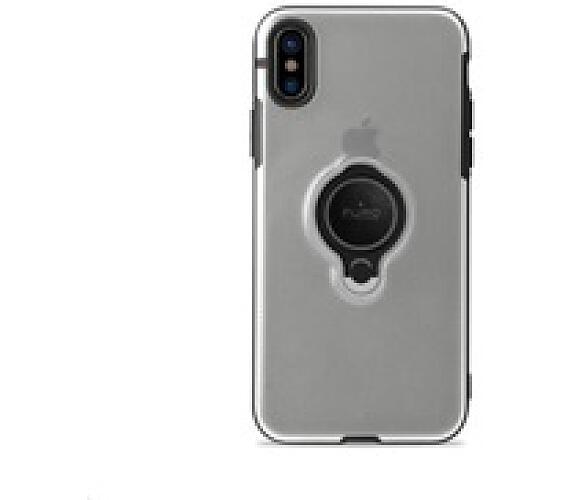 "Puro ochranný obal pro iPhone Xs Max 6.5"" s magnetickým kroužkem Transparent (IPCX65MAGRINGTR)"